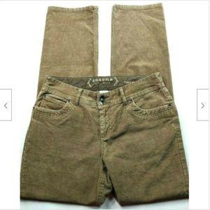 Sonoma Modern Straight Corduroy Jeans 6 Reg Brown